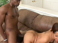Isis Love sucks a horny black dick Sean Michaels