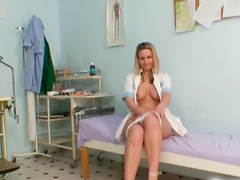 Masturbation of hot European solo girl Samantha Jolie