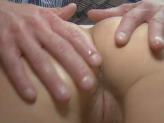 Cute blonde Bella Baby and nice tanned dick