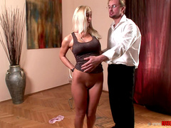Ass of Helena is getting dose of hardcore spanking