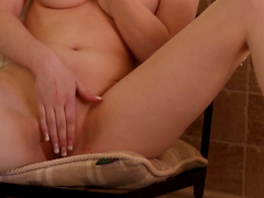 Cute blonde Lynne is demonstrating her sexy boobies
