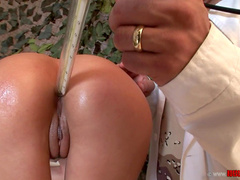 Big-ass babe Jasmine Rouge being fucked with toys