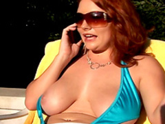 Chubby redhead mom Rebecca was facefucked