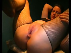 Fishnet Crotchless Anal Fuck
