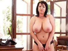 Mature lady Kora has big natural tits