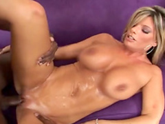 MILF blonde Krystal is banging with black dick