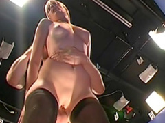German blonde Paris Milton is getting fucked in mouth
