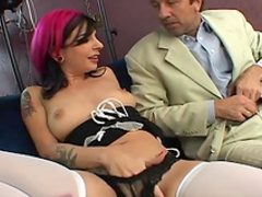 Joanna Angel fucks in her face with Steve Holmes
