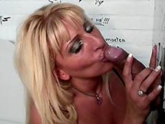 Blonde Love is sucking this hard pole