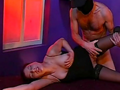 Gorgeous model is swallowing big load of sperm