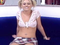 Blonde Kelly Kroft is sucking Dick Delaware's cock