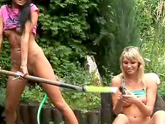 Natasha and Olya are fucking in the forest