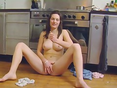 Brunette Adelles shaved pussy