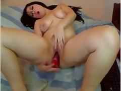 Hot brunette on Webcam