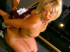 Blonde was bonded and fucked in BDSM style