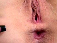 MILF Mira Sunset is lying and masturbating