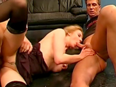 Leonie is masturbating and swallowing