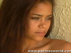 Teen Latinas go solo in erotic scenes