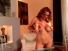 Redhead milf Sharon Pink is playing with stunning toys