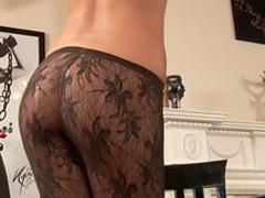 Brunette Alyssia demonstrates her slender body