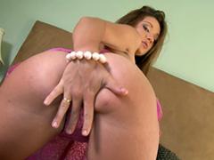 Brunette Jordana James is taking off her nice lingerie