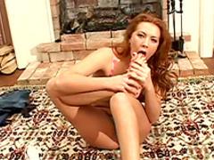 Sweet brunette Orchidea in a sexy foot fetish scene
