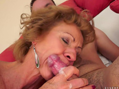 Granny being banged in her lovely doggy style position