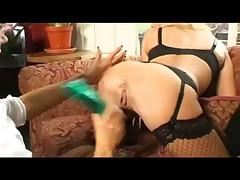 British slut Michelle Thorne with a lesbian maid