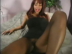 Devin derays awesome nylon footjob