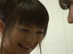 Japanese girls in shower