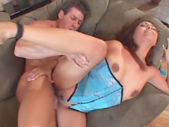 Sweet redhead babe gives a stunning blowjob