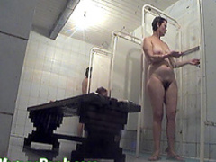 Amateur babe is showing off her pretty pussy in the shower
