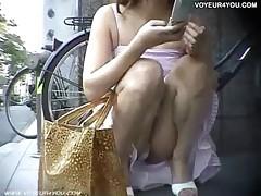 Super Transparent Chair Upskirt Panties