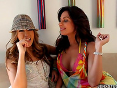 Jenna Haze and Kirsten Price are having lesbian sex