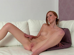 Hardcore doggy style casting with redhead Linda