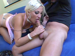 Spicy blonde was fucked in her big juicy ass
