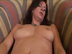 Hot Brunette rubbing her pussy