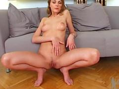 Pretty pornstar Natasha is giving a blowjob