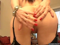 Brunette fuck with hardcore dildo