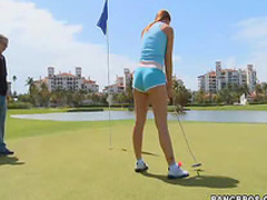 Golfing girl with big booty