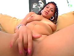 Big booty Latina takes boner