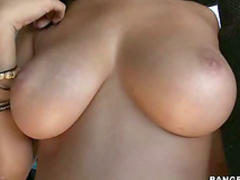 Latina gives POV blowjob