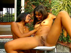 Black and Latina threesome