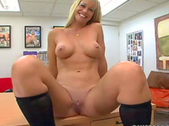 Milf gobbles plump cock head