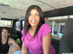 Black girl van blowjob