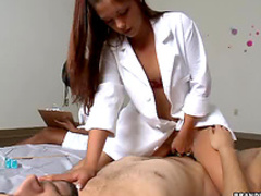 Doctor girls examine and stroke