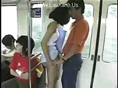 Asian Cutie In Train