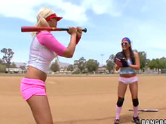 Softball beauty and big meat