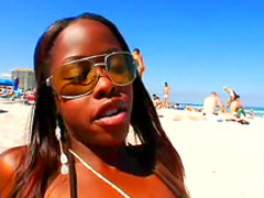 Black girl at the beach