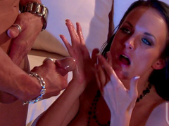 Horny pornstar Alektra Blue being fucked by a protected dick